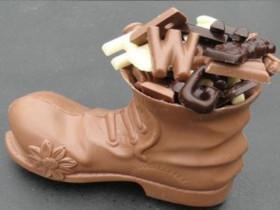 Chocolade schoen met Sint chocolade € 7,50